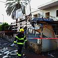 Rocket damage in Netivot Photo: Eliad Levy