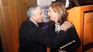 Not quitting the coalition together. Lapid and Livni. Photo: Motti Kimchi