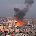 Airstrike in Gaza Photo: AP