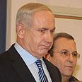 Netanyahu (L) and Barak Photo: Moti Kimchi