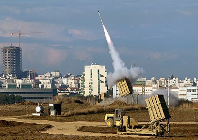 Iron Dome intercepts rockets, illustration. (Photo: EPA)