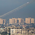 Rocket fire from Gaza Photo: AP