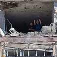 Building in which three Israelis were killed Photo: EPA