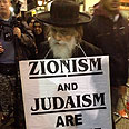 Anti-Zionist haredi protester. London Photo: Rona Zinman