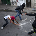 Riots in e. Jerusalem Photo: AFP