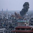 Aistrike in Gaza Photo: AP
