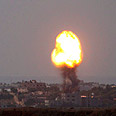 'We seek calm.' Airstrike on Gaza Photo: AP
