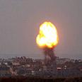 'We seek calm.' Airstrike on Gaza Photo: AP