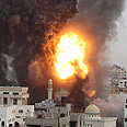Hamas building bombed Photo: Reuters