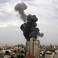 IDF strike in Gaza Photo: AP