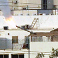 Missile lands near houses in Ashdod Photo: Gilad Kvalerchik