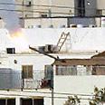 Missile lands near houses in Ashdod Photo: Gilad Kvalerchik