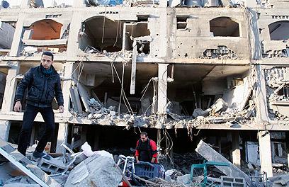 Aftermath of IAF strike in Gaza (Photo: Reuters)