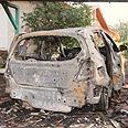 Damaged car in Ashkelon Photo: Ido Erez