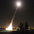 Iron Dome in action Photo: Shaul Golan, Yedioth Ahronoth