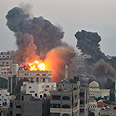 The IAF strike Photo: Reuters