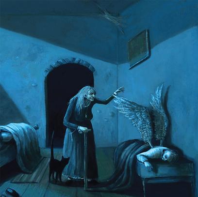 מכשפה, כנפיים ואופל. האחים גרים שלא הכרנו  (איורים: אלון געש)