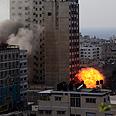 Gaza media center Photo: EPA