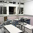 School hit by Grad rocket in Ashkelon Photo: Ido Erez