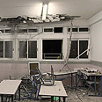 Classroom hit in Ashkelon Photo: Ido Erez