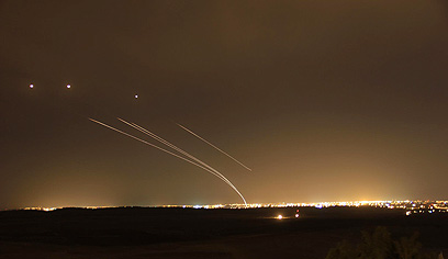 Iron Dome intercepts rockets from Gaza (Archive Photo: Dor Kafri)