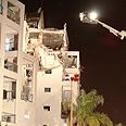 Self-produced rocket which hit Rishon Lezion building Photo: Avi Moalem