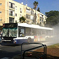 Blast on bus Photo: Gal Sabag