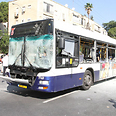 Tel Aviv bus targeted by attack Photo: Ofer Amram