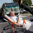 Scene of Tel Aviv bus bombing. Illusion on brink of collapse Photo: AP