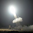 Iron Dome interception in Ashdod Photo: Avi Roccah