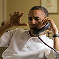 Obama on phone with Netanyahu Photo: Pete Souza, EFP