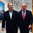 Barak (L) and Netanyahu Photo: Ariel Hermoni, Defense Ministry