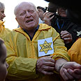 Holocaust survivor at a protest in Hungary Photo: AP