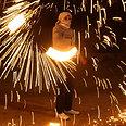 Fireworks in Nablus Photo: AP