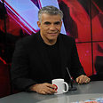 Lapid at Ynet Live studio Sunday morning