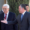 Abbas with Jordan's King Abdullah, earlier Sunday Photo: Reuters