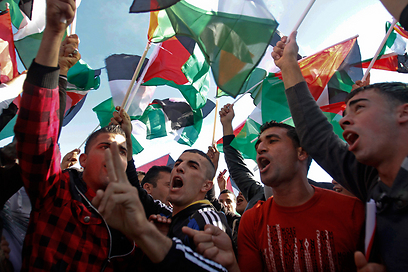 Ramallah celebrates UN vote (Photo: AP)