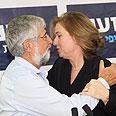 Livni and Mitzna Photo: Moti Kimchi