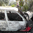 Torched car Photo: Manal al-Jaabari, B'Tselem