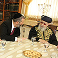 Rabbi Yosef and Aryeh Deri Photo: Yaakov Cohen