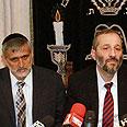 Shas leaders Photo: Haim Tzach