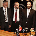 Eli Yishai, Aryeh Deri and Ariel Attias Photo: Haim Zach, Yedioth Ahronoth