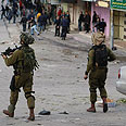 Soldiers in Hebron Photo: Reuters