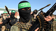 Hamas members at Strip Photo: Reuters