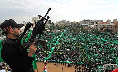 Hamas rally in Gaza (Photo: AFP)