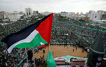 Gaza celebrating Hamas' 25 years (Photo: Reuters)
