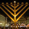 Hanukkah menorah in Germany Photo: EPA