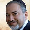 Lieberman wearing a yarmulke in Shas campaign