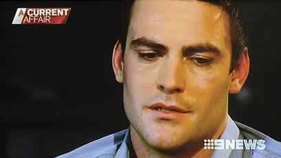 השדרן מייקל כריסטיאן בראיון הראשון לתקשורת (צילום: AFP)