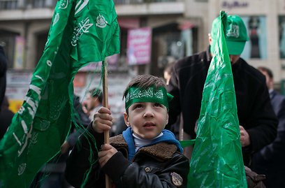 Hamas rally in Nablus (Photo: Ohad Zwigenberg)